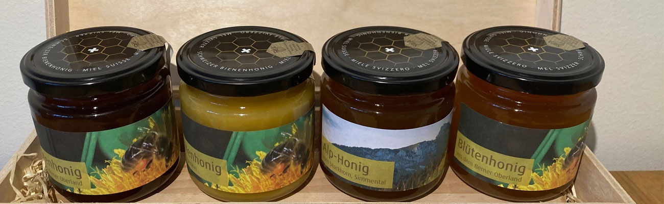 Honig in diversen Sorten